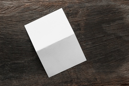blank portrait mock up paper brochure magazine isolated on brown