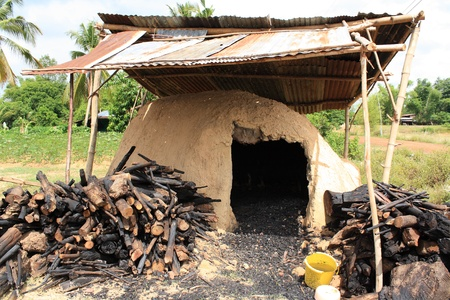 incinerator: natural incinerator that it made from clay to burn firewood