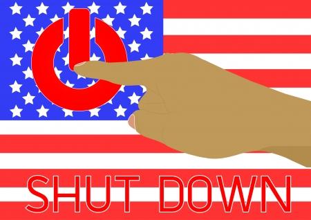 shutdown: America was shutdown them government office again in many years pass Vector