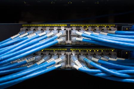 네트워크 서버에 조명과 연결 스톡 콘텐츠
