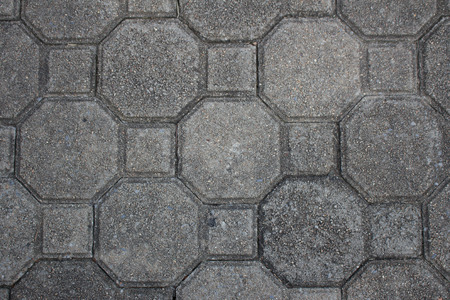 tileable: Gray Figured Paving Slabs. Seamless Tileable Texture. Stock Photo