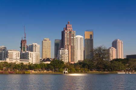 vdo: Benchakitti Park is a park where is locate in central Bangkok near Asoke BTS station Stock Photo