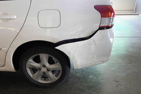 fender bender: Car dented after acident