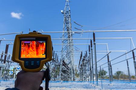 Thermoscan (Wärmebildkamera), Industrielle Ausrüstung zur Überprüfung der Innentemperatur der Maschine zur vorbeugenden Wartung, Dies ist die Überprüfung der Wärme von Umspannwerken.