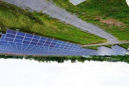 Solar panel, alternative electricity source, concept of sustainable resources, And this is a new system that can generate electricity more than the original, Thiss the sun tracking systems. Reklamní fotografie