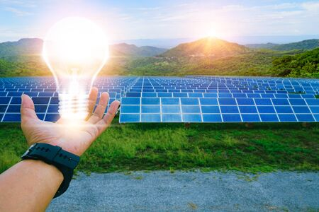 Solar panel, alternative electricity source, concept of sustainable resources, This is clean power in the world.