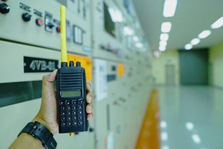 Electrical engineers use radio communications to communicate for work safety because they must communicate all the time to close or open and test various electrical systems in large power plants.