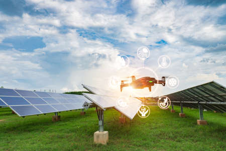 Engineers use the IR Scanner installed on the drone for use in flight, check the performance of solar cells and detect hot spots that are a cause of short circuit and equipment damage(AI technology).