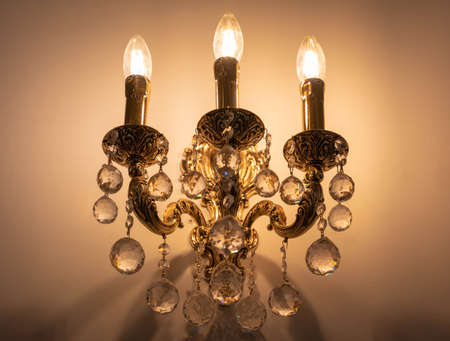 Warm color lamps for interior decoration, bright and beautiful.