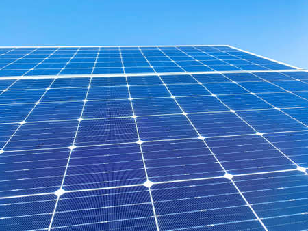 Solar plant(solar cell) need to hot climate causes increased power production, Alternative energy to conserve the world's energy, Photovoltaic module idea for clean energy production.