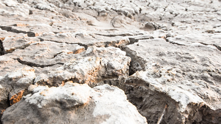 rural areas: Cracks in the land in rural areas, Thailand Stock Photo