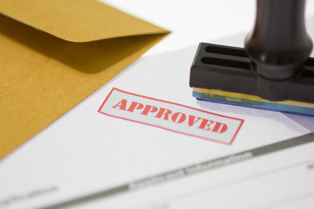 approved: Stamp printed on the approved  application approved.