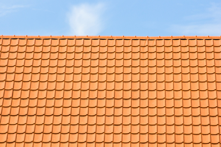 attic: Tile-roofed house.architecture, attic, background,