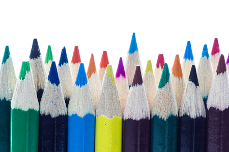 personal perspective: Color pencils isolated in white background.