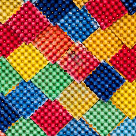 spandex: Closeup detail of multi color fabric texture