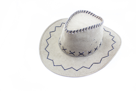 stetson: cowboy hat closeup isolated on a white background