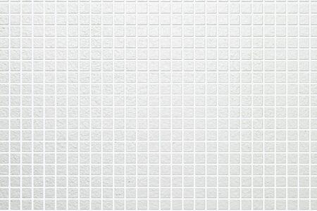 Weiß Mosaik-Fliesen Wand abstrakten Hintergrund und Textur