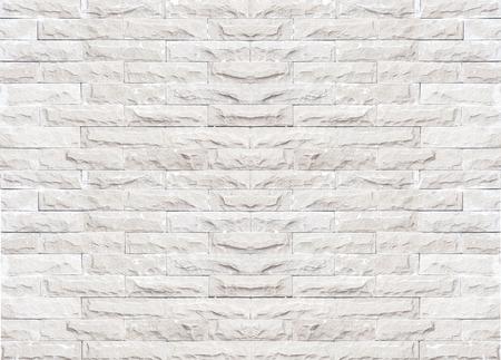 Fondo de la textura de la pared de ladrillo blanco y negro / color gris del modelo de la pared de ladrillo del diseño decorativo del estilo moderno desigual