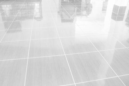 Gray Tiles marble floor for Buildings Interiors background Banco de Imagens