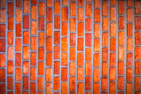 Red brick wall  vignette for placing letters in the middle and a classical background