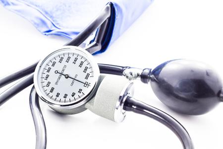 healer: Blood pressure meter medical equipment isolated on white  bavkground
