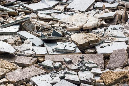 rupture: cement floor with crack in industrial building