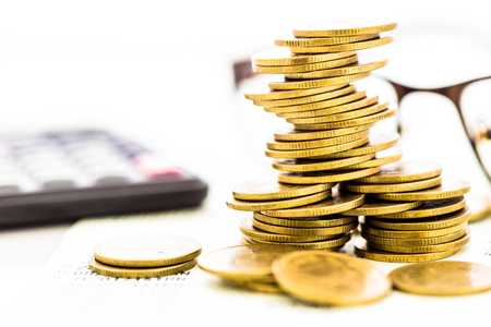 Gold Coin Class Communication to financial investment concepts of financial business.