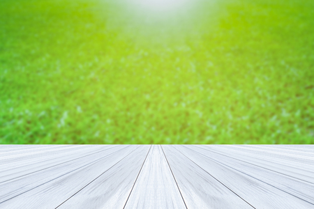 Green blur texture background and  wood floor as background texture. Services include product display template.