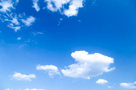 art blue sky with white clouds closeup nature background.