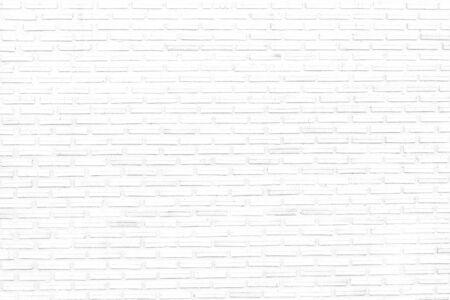 weißer Backsteinmauertexturhintergrund des dekorativen unebenen modernen Designentwurfs. Standard-Bild