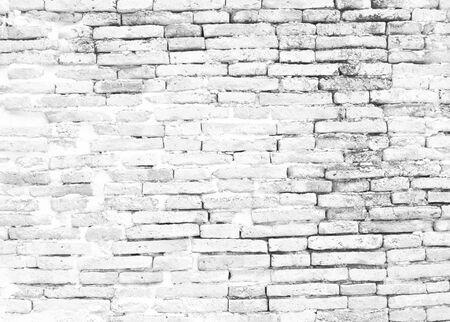 muro di mattoni bianchi modello colore grigio di stile moderno design decorativo irregolare.Idee di design in stile loft che vivono a casa