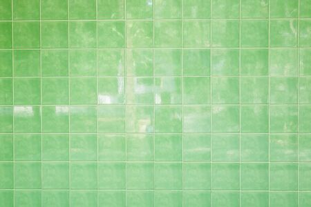 green tiles wall streak texture background vintage using classical background or use it in design and decorative. 写真素材