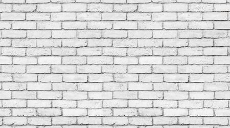 white brick wall texture used to make background suitable for interior and exterior home. Zdjęcie Seryjne