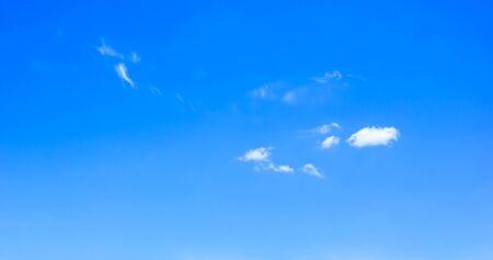 Blue sky background, white clouds, clear day, clear white clouds, suitable for outdoor activities.