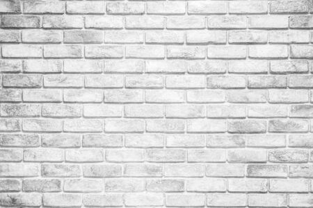 white brick wall texture used to make background suitable for interior and exterior home. 免版税图像