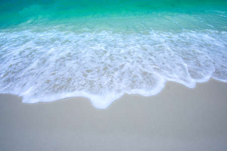 Beautiful tropical beach of Summer sea background  .The sand is emptyfor product placement .