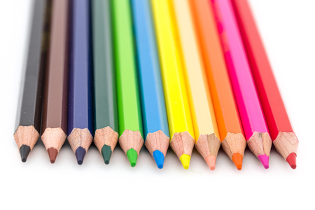 color pencils: pencil ArtTry to make the best of now Stock Photo