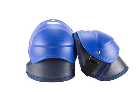 protective: motorcycle protective gear knee pad Stock Photo