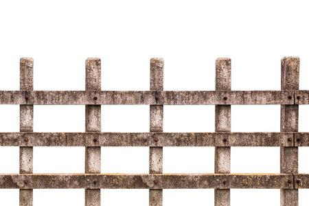 Houten hek op de ranch geïsoleerd over witte achtergrond