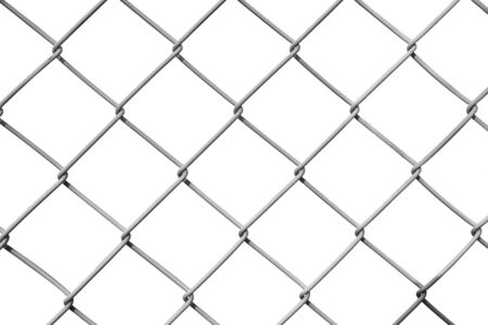chain fence: Chain Fence. Vector illustration isolated on white background