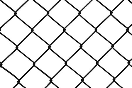 Chain Fence. Vector illustration isolated on white background