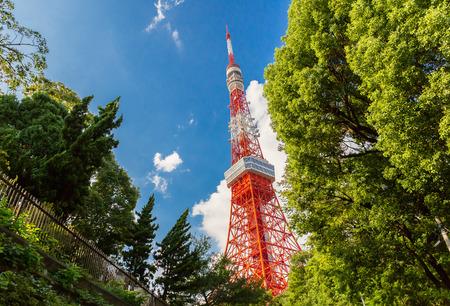 TOKYO,JAPAN - Sep 10 : Tokyos Landscape with Tokyo Tower on Sep 10 2016 at Mori Tower.