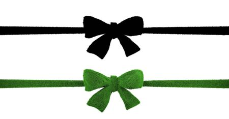 Grass-Covered Ribbon Design Green Ribbon background mask Concept