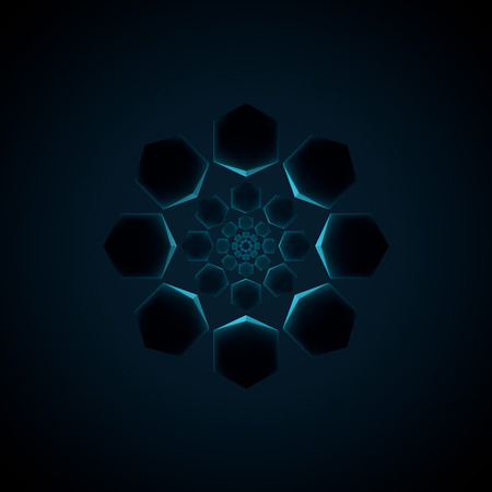 abstract octagon design