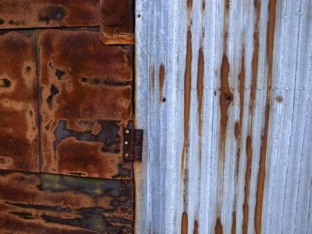 coverings: an old galvanized iron Stock Photo