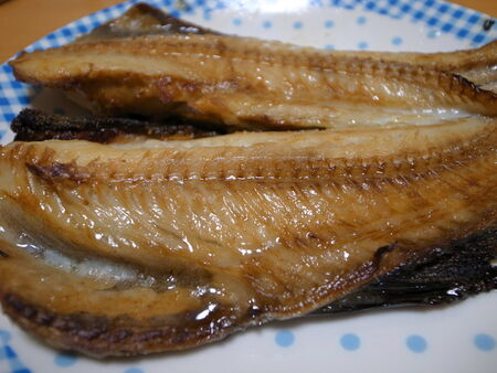 greenling: Atka mackerel topped with fat Stock Photo