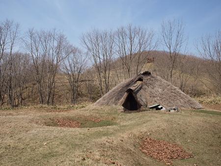 Hokuto ruins of restoration pit dwellings