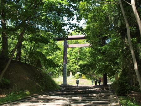 Entrance of the Hokkaido Shrine Stok Fotoğraf