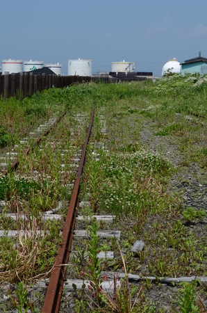 longer: Rail that is no longer used Stock Photo