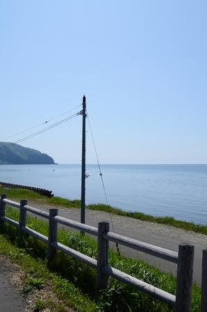 horizontal line: Telephone pole and the horizontal line